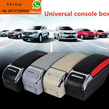 Factory price car center console box New design universal console box with chrome or wooden