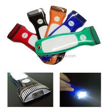 Customized Logo Promotional pvc Flat LED Magnetic Flashlight Torch