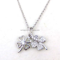 Small Size Design 925 Sterling Silver Four-Leaf Clover Pendant
