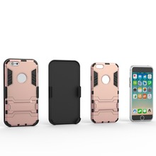 PC+TPU Iron Man Belt Clip Cell Phone Case for iPhone6s 6s plus,6plus Robot Mobile Case Cheap wholesale