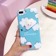 High Quality 3D Decompressing Cute Cloud Shape Mobile Phone Cover case for iPhone 7