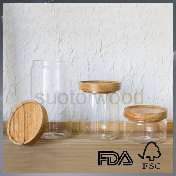 Fashionable wooden lids with silicone wooden sealed cap