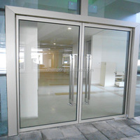 HD040 aluminum framed double swing glass door for commercial