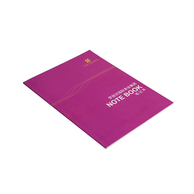 Custom size perfect binding rose red catalogue soft cover paper book printing service