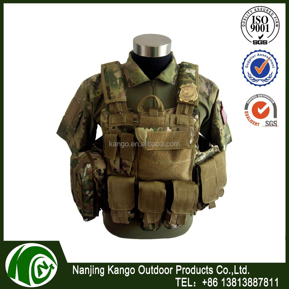 K-ANGO Competitive Price Abrasion Resistance MOLLE Paintball Waistcoat Army Combat Military Tactical Gear Vest For Hunting
