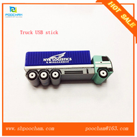 Best quality miniature truck shape U disk with logo print