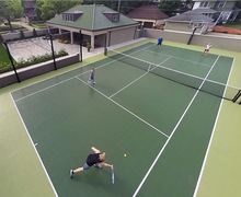 Modular interlocking synthetic tennis court floor rubber mat