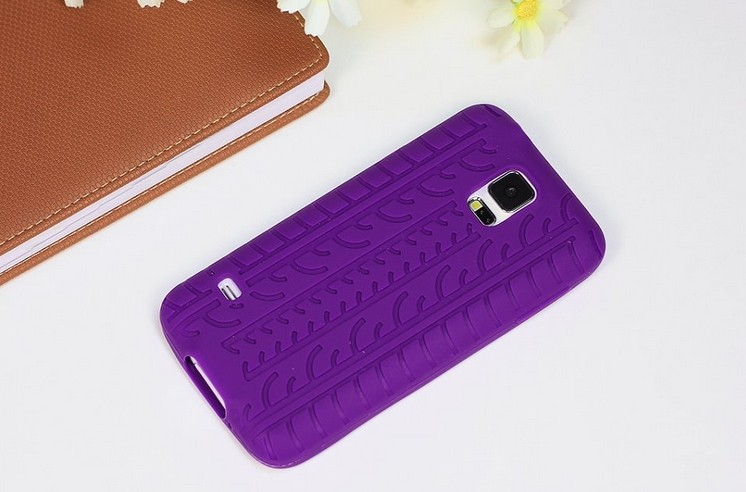 New Tyre Tread Silicone Gel Case Cover For Samsung Galaxy S5 I9600