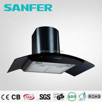 Top Quality Curved Glass Exhaust Fan Hood Home Kitchen Products