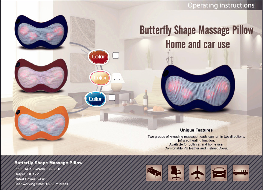 ES-M107 Massage Pillow Health Care Product as Christmas Gifts Massage China Supplier