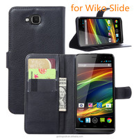 Mobile Accessories fip PU Leather cell Phone Cover For Wiko Slide wallet case