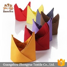 OEM colorful cheap cotton foldable dinner table napkin for hotel