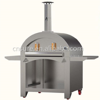 Freestanding Stainless Steel Wood Fired Pizza Oven with Side Stage