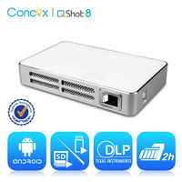 Concox High Quality Q8 Smart Pocket data projector built-in 2 Hours Play Time with 2100mAh Internet battery
