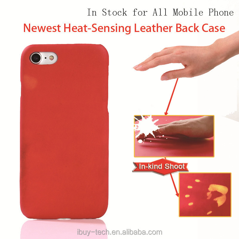 latest soft thermal heat sensitive induction discoloration color change mobile phone case back cover for iphone 6 for iphone 7