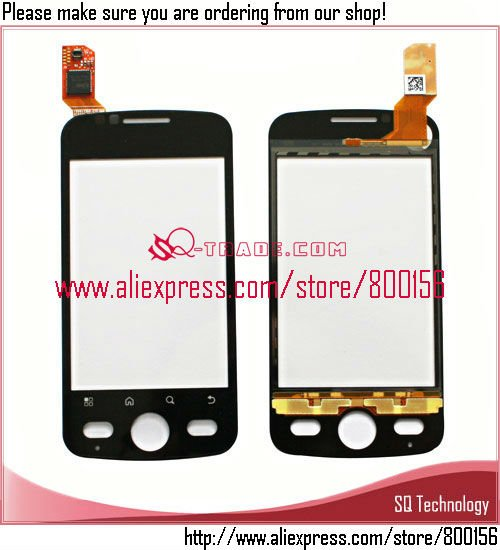 Alibaba 3.2 inch XT502 Touch Screen for Motorola Black