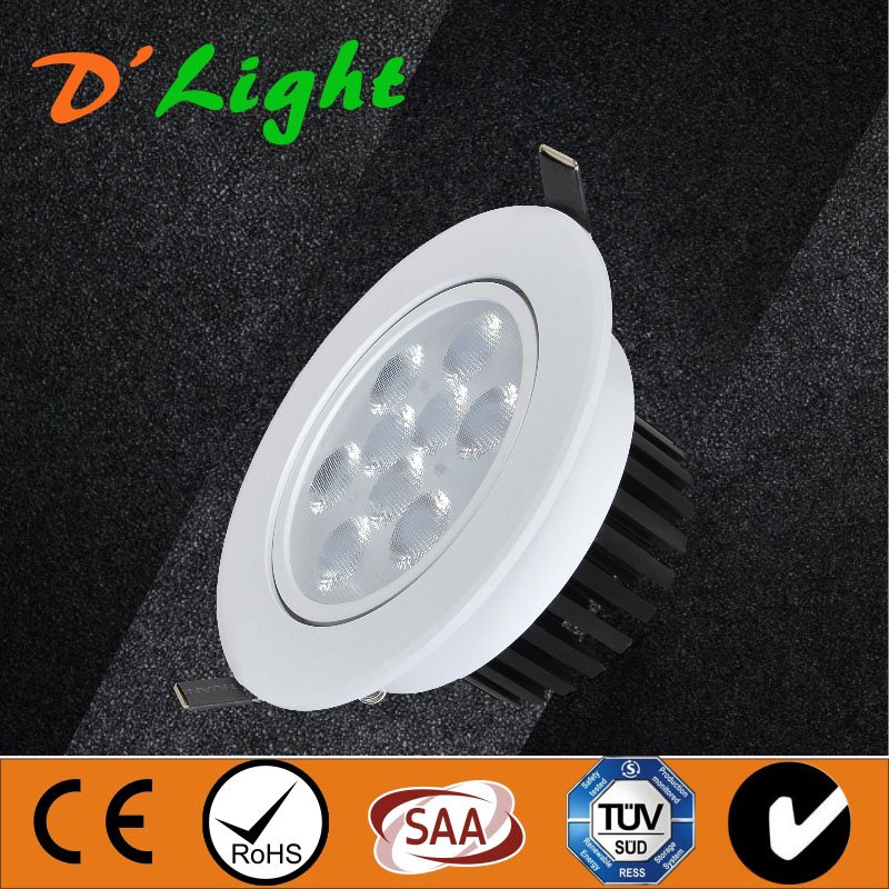 18W 3030 led spotlight dimmable mr16 soft white for track & accent lighting blue film new product