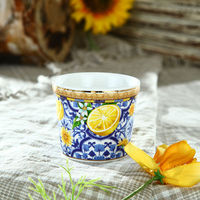 Elegant New Bone China Mini Ceramic Flower Pot