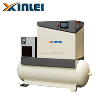 XLPM7.5ATD-s2 5.5KW 7.5hp oil variable frequency drive air screw air compressor with air dryer and 300L tank