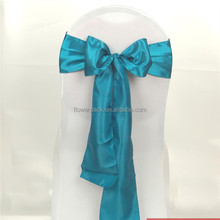 soft silk pure color Taffeta Chair Sash for Wedding party and home events