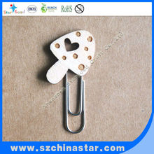 Mushroom shape paper clip Reach Rohs approved