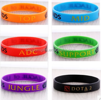 LOL TOP MID SUPPORT JUNGLE silicone bracelet, LOL wrist band