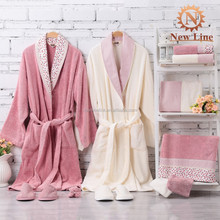 2016 NEW kimono style robes copules 100% cotton towel bathrobe