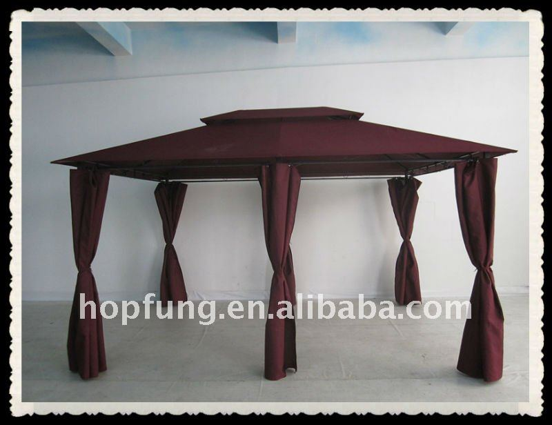 3M*4M metal gazebo(double topped gazebo,metal top gazebo)