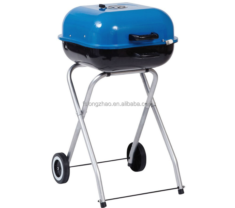 Trolley barbecue charcoal grill BBQ charcoal grill high stand hamburg grill barbecue