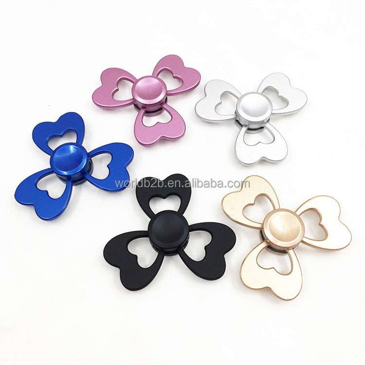 Fashion clover design metal spinner 5 colors available anxiety release hand fidget toys