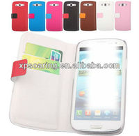 Credit card leather case pouch bag for Samsung Galaxy S3 I9300