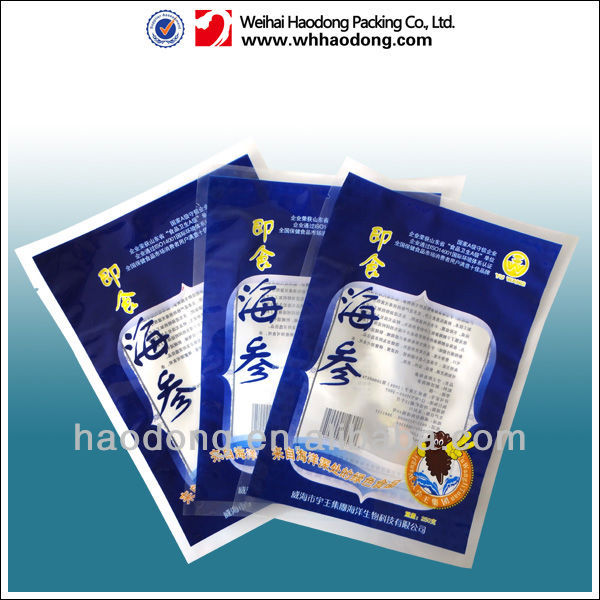 ready-to-eat sea cucumber packaging bags with clear window