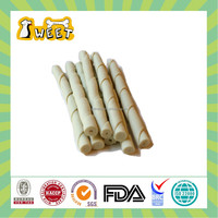 "5"" 10g-12g Dog Toy Type Wholesale Bulk Gluten Free Dog Products Rawhid Free Twist Stick White Pet Natural"
