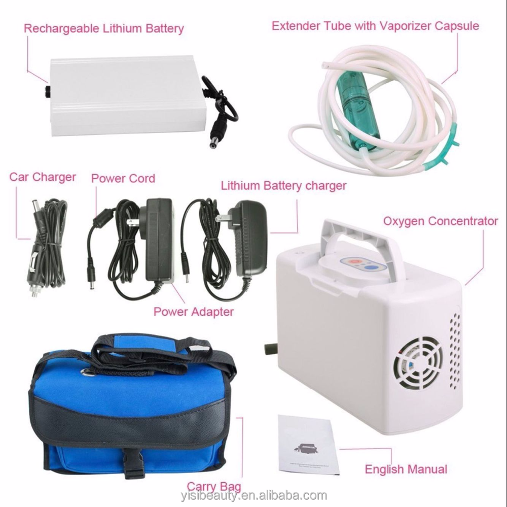 Portable oxygen concentrator nebulizer car used