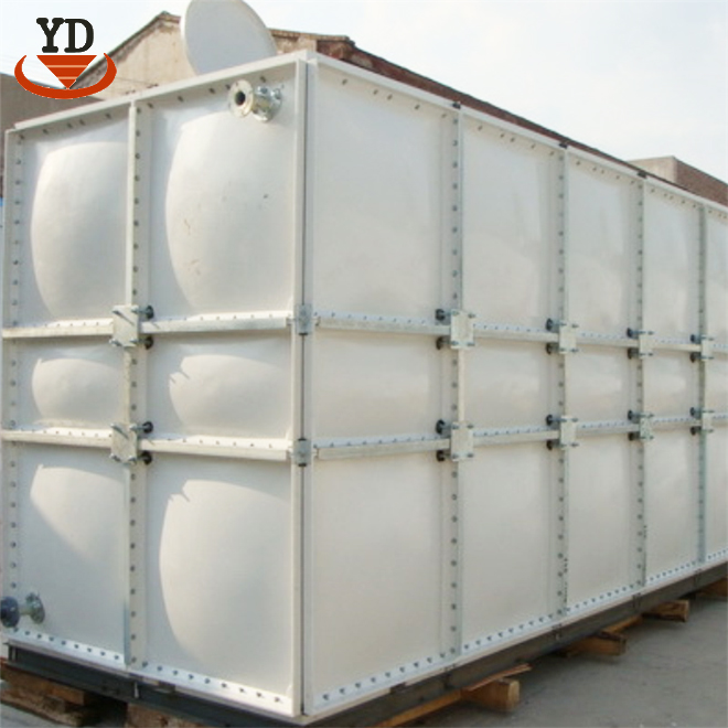 Light weight open roof frp water tank for enterprises and institutions