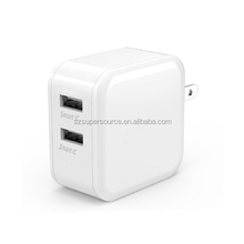 Dual usb wall charger 24W 4.8A smartID technology with CE, FCC, ROHS certified for handphones