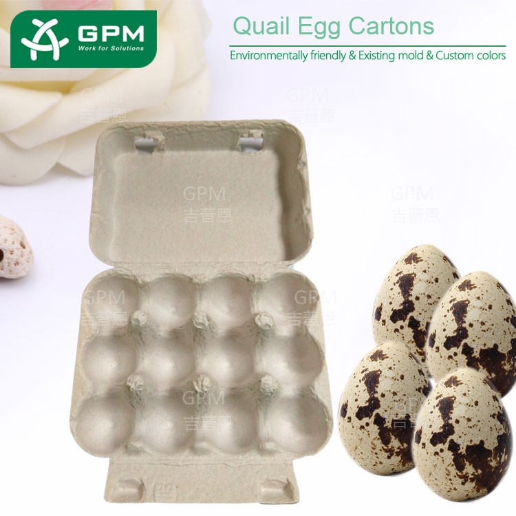 12 holes biodegradable paper material bulk quail egg box for sale