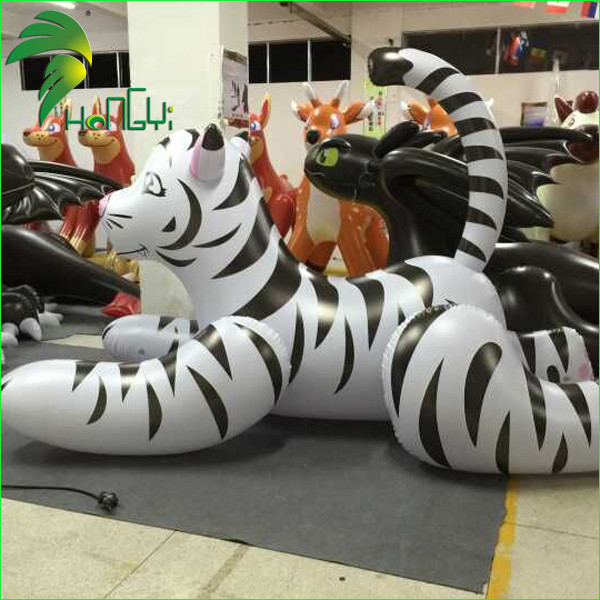 2M Long Inflatable White Tiger Pool Toys
