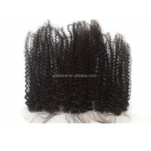 13x4 lace frontal with baby hair, 100 virgin kinky curly cambodian hair piece
