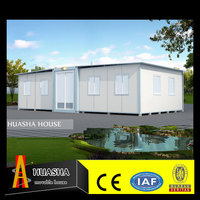 Luxury mobile modern container prefab steel villa with floor plans