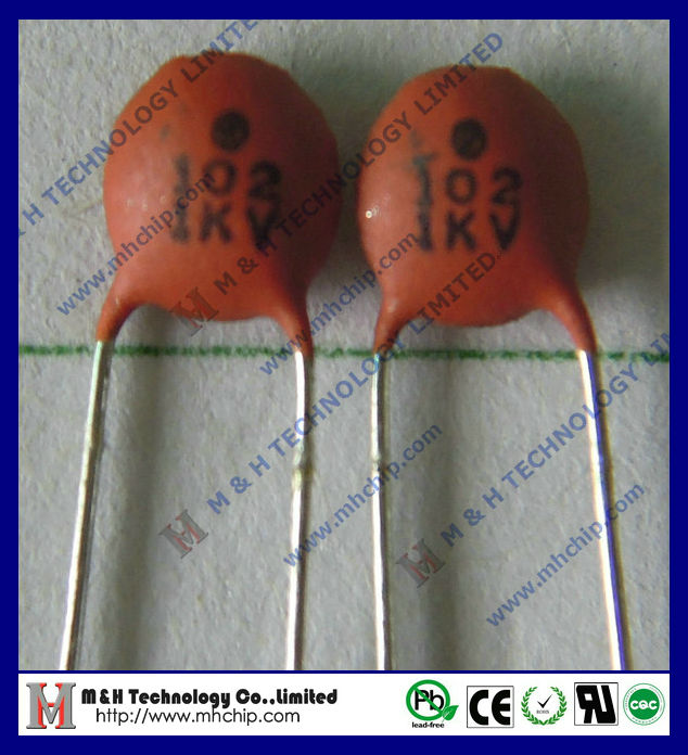 Ceramic dip capacitor 102K 1KV Ceramic disc capacitor