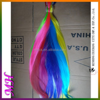 Alibaba Trade Assurance Quick Delivery Tangle Free Soft Smooth Colored Hair Extensions Clip In Animal Hair Extension