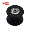 Manufacturer low price high precision coated plastic pulley v groove bearing