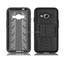 tyre lines hybrid protector case with kickstand for samsung galaxy j1 prime
