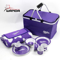 Foldable shopping basket with cooler bag