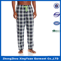 long checked pajamas pants for men,100% Polyester Home Sleep Pajama Pants Comfortable Pants