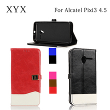 customised logo flip cover case for alcatel one touch pixi 3(4.5) ot-4027n, case for alcatel onetouch pixi 3 4.5