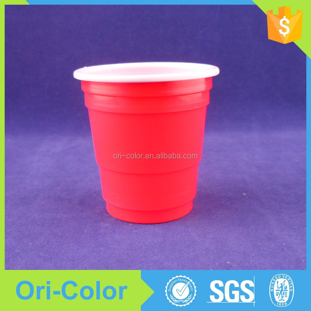 Disposable colored mini plastic dessert cup