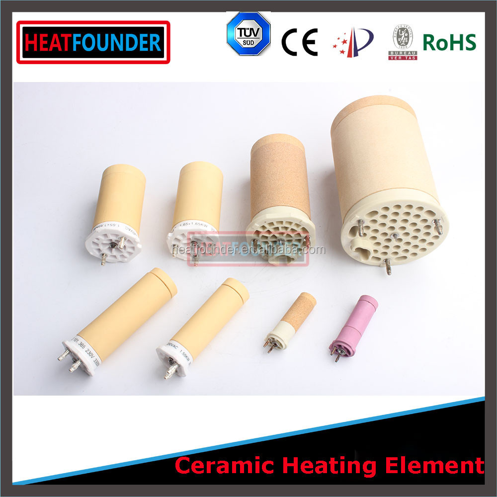 230V 3.9kw 44X85mm Ceramic Heater with Center Solid Rod