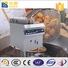 energy saving industrial chip fryer with 2 Tanks/Industrial chip fryer electric deep fryers